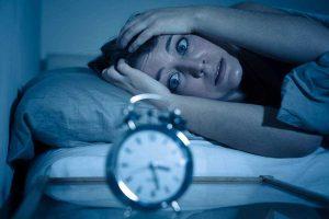 Paciente con síntomas de insomnio